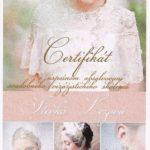 Certifikát svadobného vizážistického školenia
